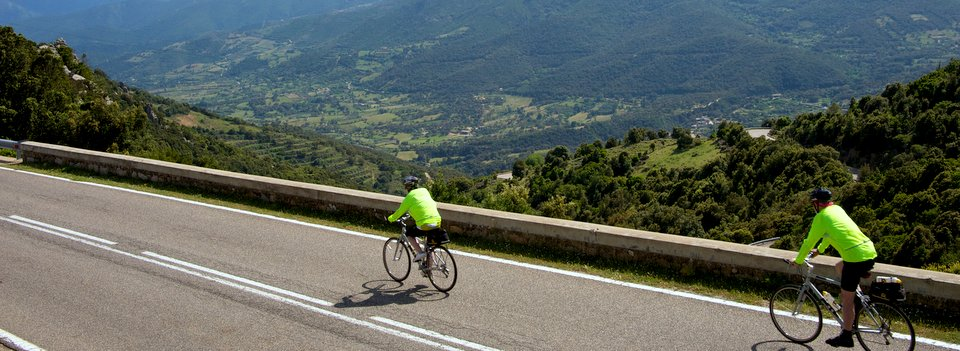 Cresting a tough climb in the Pyrenees.