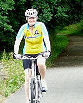 ExperiencePlus! Customer Pam Brills riding in the Dordogne region of France.