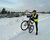 ExperiencePlus! tour leader Toomas Lelov on his way to work.