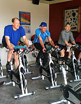 A spin class at become fit in Fort Collins, CO