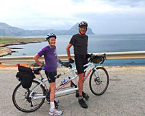 Jerry and Dick Smallwood riding in Sicily.