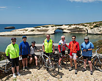 Bicycling along the coast of Sardinia. Photo by Gregg Bleakney