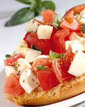 Tomato and Cheese Bruschette