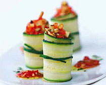 Zucchini and Eggplant Rolls. Image courtesy of Conad Grocery Stores