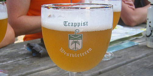 Trappist beer on the ExperiencePlus! bicycle tour in Belgium.
