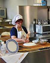 Piadina lesson at the Casa Artusi in Forlimpopoli