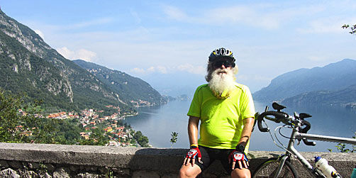 ExperiencePlus! founder Rick Price with Lake Como in Italy