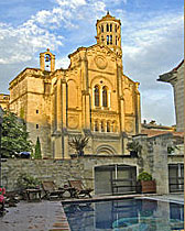 View from the pool in Uzes