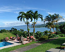 View pool side at La Mansion in Costa Rica