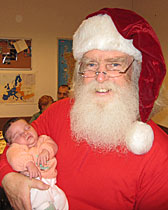 Santa Rick and his new grand daughter Lidia