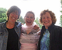 Jane Hermanson, Mary (wrapped in pink), and Elizabeth Renner. Photo by Heather and Ian Brown