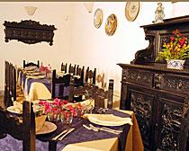 Dining room of the Agriturismo Baglio Vecchio in Sicily