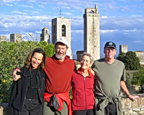 Sally and a few friends at San Gimignano in Tuscany with ExperiencePlus