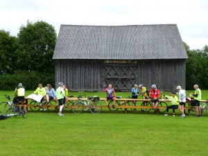 Cyclists in Lithuania - August 2012