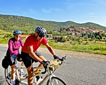 Dick and Jerry Smallwood enjoy cycling the Languedoc on their ExperiencePlus! tandem