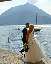 Varenna with the bride and groom