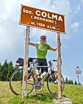 Julie at Colma Pass on the ExperiencePlus! Lakes District ride