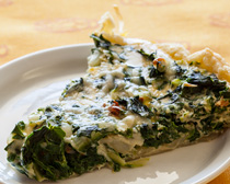 Chard Quiche. Photo by John Giebler