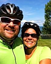 Ken and Kelly enjoy a beautiful ride.