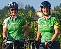 "Maria Elena and Monica at the ""farm""."