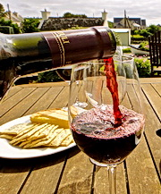 Enjoy a glass of wine and book your next cycling adventure