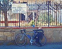 Silvia's bike in Chile