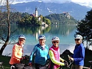 ExperiencePlus! travelers in Lake Bled, Slovenia