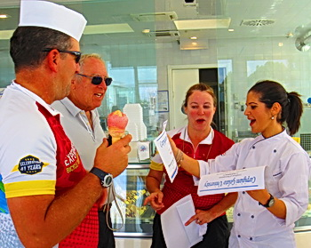 Gelato Museum photo by ExperiencePlus! tour leader Andrea Garreffa