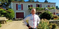 Gary cycling in Provence