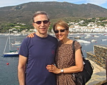 Jim and Sari Rosokoff in Cadaques along the Costa Brava with ExperiencePlus!