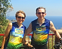 Sari and Jim along the Costa Brava in Spain.