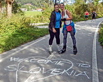Crossing the border from Austria to Slovenia