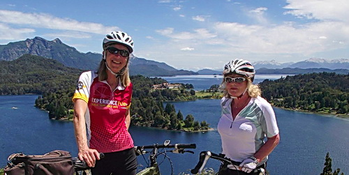 Starr and another rider enjoy the views in Patagonia's Lakes District with ExperiencePlus!