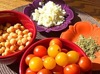 Tomato, Chickpea, Feta