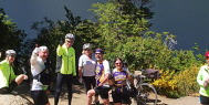 Riders take a break on the Patagonia Lakes trip with ExperiencePlus!