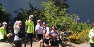 Riders take a break on the Patagonia Lakes trip with ExperiencePlus!