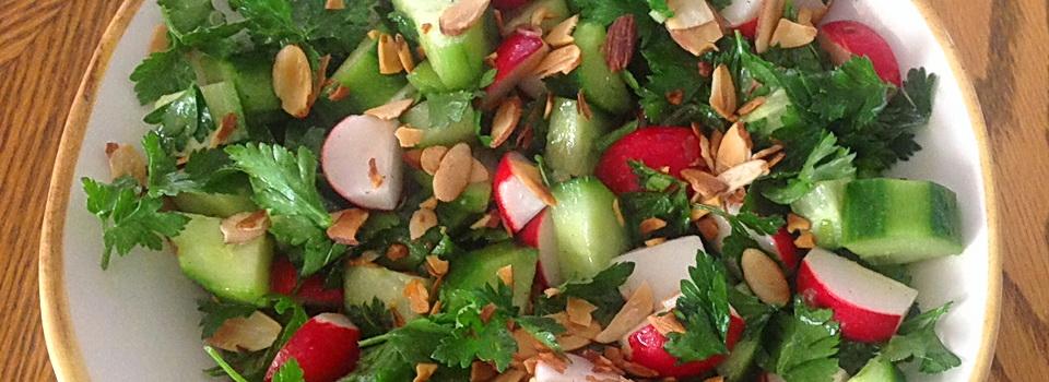 Cucumber, Radish and Parsley Salad