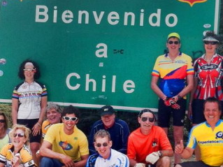 Entering Chile on ExperiencePlus! Patagonia Lakes District bicycle tour.