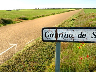 ExperiencePlus! arrow along Spain's Camino de Santiago
