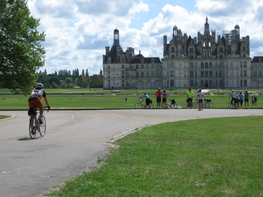 Loire Valley - Arriving by Bicycle in the Loire at the Chateau du Chambord