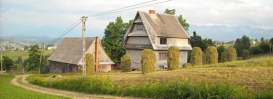 Grandma Zoisa's farm in the foothills of the Tatra Mountains