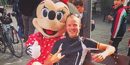 Tour leader Loic Tyberghein and Minnie in Sicily