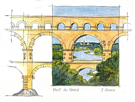 Pont du Gard. By John Owen
