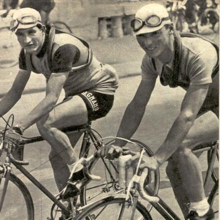 Gino Bartali and Giovanni Valetti