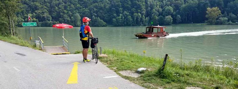 Waiting for the ferry on Danube Guided Bike Tour